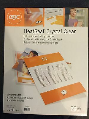 GBC Laminating Pouches / Sheets, Letter Size, 10 mil , Heat-Seal, 2 Boxes of 50