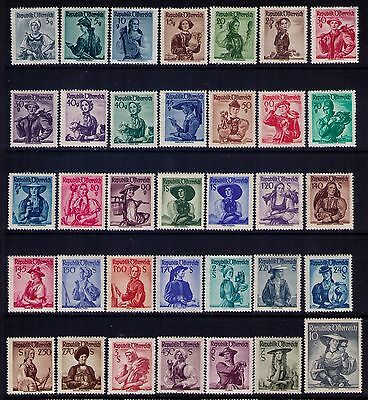 Austria Stamps, SC# 520-56 Cpl.MH Set Cat.$66 , a few gum thins