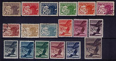 Austria Airmail Stamps, SC#c12//31  selection MNG/Used Cat.$130