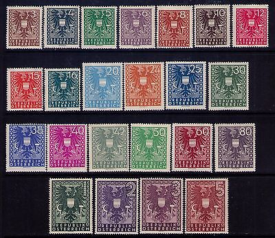 Austria Stamps, SC# 432-54 Cpl.MH Set Cat.$6