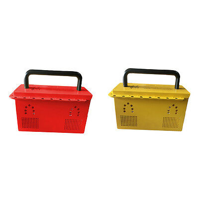 EFLE Industrial Safety Group Lockout Box with 20 padlock eyelets