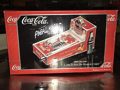 Miniture Coca Cola Musical Pinball Machine Coin Bank. Very Collectible. L@@k