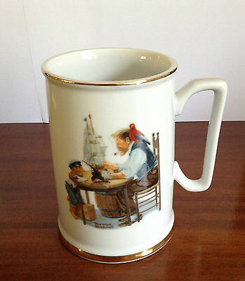 """Norman Rockwell The Seafarer's Tankard Collection Mug, """"For a Good Boy"""", 1984"""