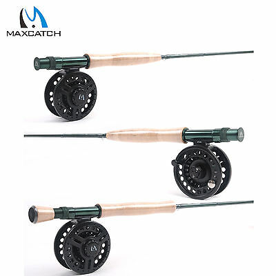 Fly Rod & Reel Combos Medium-Fast #3WT/4WT/5WT/6WT/7WT/8WT & Fly Fishing Reel