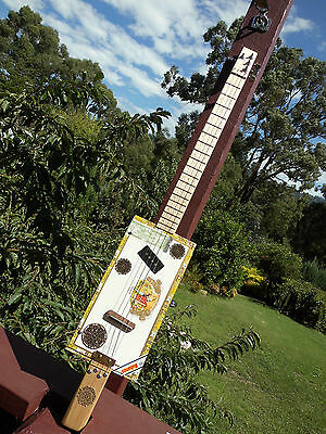 Cigar Box Guitar A 4 string LEFTY4 pole pick up by Jandyb FREE POST