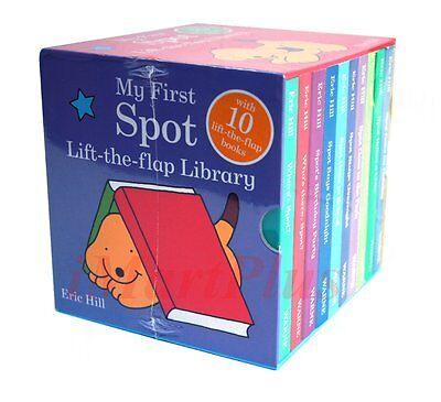 My First SPOT Lift-the-Flap Library 10 Board Books Set Collection Eric Hill New1
