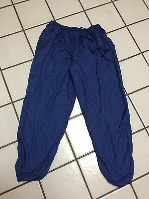NIKE SWOOSH Blue nylon Warm up Pants Track Running Boys XL 18 - 20 Jersey Lined