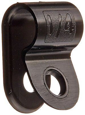 "Heavy Duty Nylon Cable Clamp, 0.25"" Diameter, 0.5"" Width, Black"
