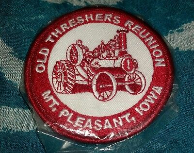 Vtg. Patch Midwest Old Threshers Mt. Pleasant Iowa Steam Engine Tractor Nip Mip