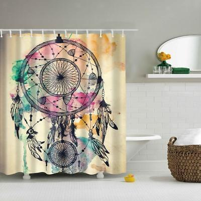"71"" Dream Catcher Print Shower Curtain Bathroom Waterproof Polyester Drapes"