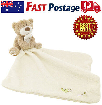Baby Comforter Blanket Teddy Bear Toy Soft Smooth Plush Stuffed