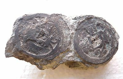 China, A large clump of bronze coins from Song dynasty shipwreck - 105g