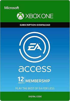 Xbox One EA Access 12 Month Subscription!! Free Shipping, Ship World Wide!