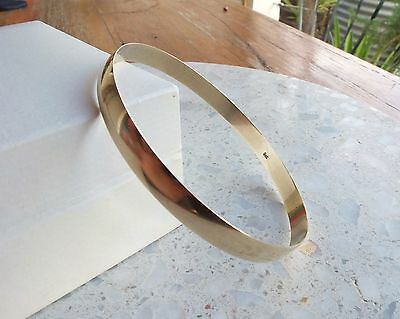 9ct yellow Gold Bangle classic design 7.9g 375 9k