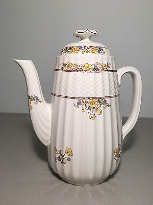 Copeland Spode Buttercup Coffee Pot w/Lid Old Mark **NICE**