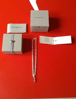 emporio armani 925 silver chunky necklace and bracelet