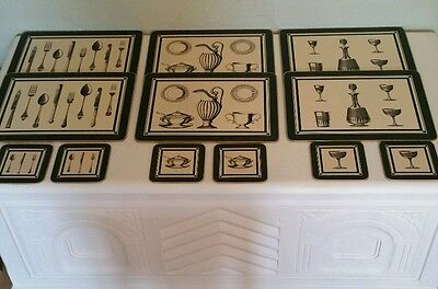 MARKS AND SPENCER DINING PLACE / TABLE MATS & COASTERS IMMACULATE  6 x 2