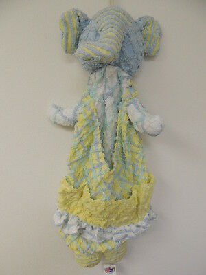 Chenanimals Chenille Shabby chic Elephant Hang Blue Diaper Stacker NWT Boutique