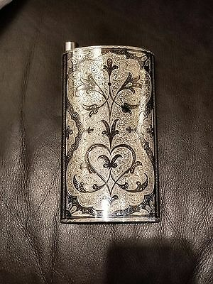 Silver Flask, Weight 400 grams, fits 13-15 oz