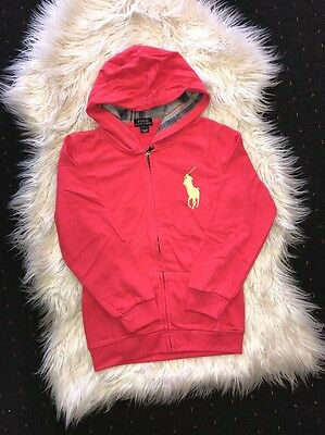 New Red Girl Ralph Lauren Zipthrough Jumper Size  6