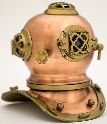 Diver's Helmet - Vintage Scuba Deep Diving Diver's Helmet Copper Antique