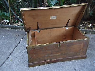 Antique Kauri Pine Trunk/ Box International Exhibition Melbourne C1876 RARE