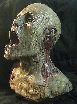 Zombie Bust Infected Bloody Jim Life size custom  halloween , prop, horror,gore