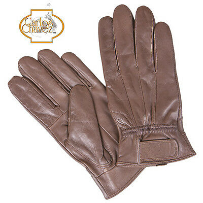 Carlos Chavez Genuine Leather Insulated Gloves - Brown - Women's L - 2 Pack
