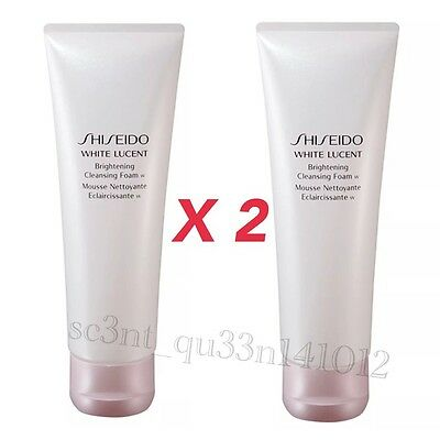 2x Shiseido WHITE LUCENT Brightening Cleansing Foam 125ml Purifying Cleanser NIB