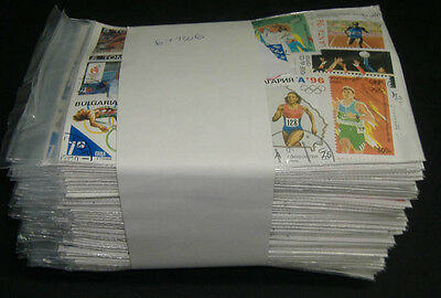 World: Olympic stamps (100 packs 70 diff = 7000) retail $500+, all large size