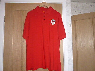 Hardly Worn Cardiff City Official Polo Shirt size large 100% Cotton