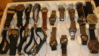 Trade Only Job Lot Of 20 X  Mixed Bench  Watches 100% Gen..<