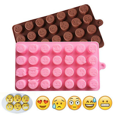 Emoji Expression Silicone Chocolate Molds Baking Ice Cube Tray Candy Cake Mould