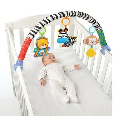 Baby Stroller Crib Hanging Early Education Travel Arch with Toys for Baby