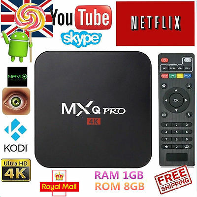 New  MXQ PRO 4K S905 Quad Core Android 6.0 TV Box FILM Wifi 17.1 Media Player UK
