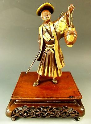 Japanese Meiji Period Bronze On Stand – The Night Watchman