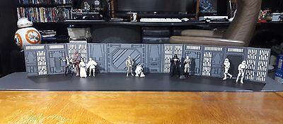 Death Star Like Space Station Wall Kit Custom Toy Play Set for 3.75  Star Wars
