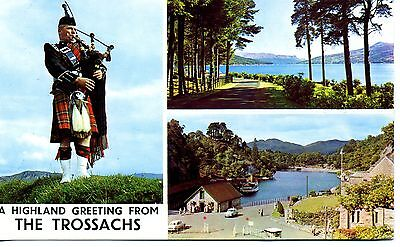 Loch Katrine  & Piper : Highland Greetings from The Trossachs