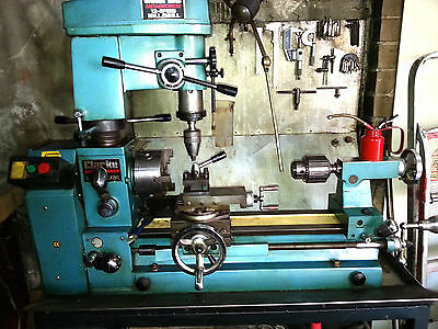 Clarke Cl500M Metal Lathe With Milling Drill And Suds Tray