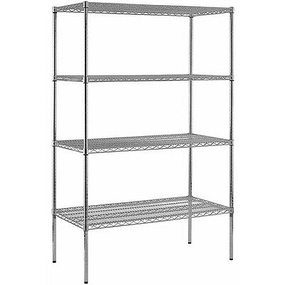"Muscle Rack Heavy Duty Steel Adjustable Wire Shelving, 800 lb Capacity, 48""W x"