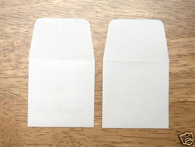 """1 Box Of 1000 2"""" Square White Paper Coin Envelope's"""