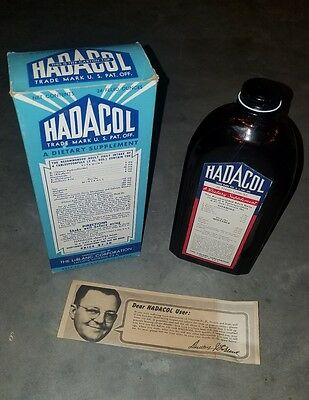 Vintage HADACOL Bottle in Original Box with Insert- Quack Medicine
