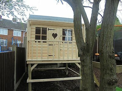6x4 Playhouse With 2ft Balcony