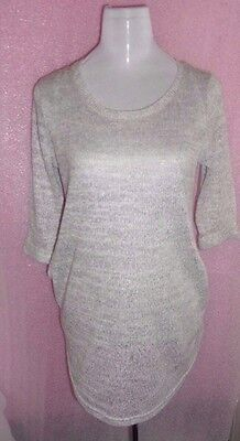 Grey Maternity Knitted Jumper Dress Top Size 14 - New Look Ladies