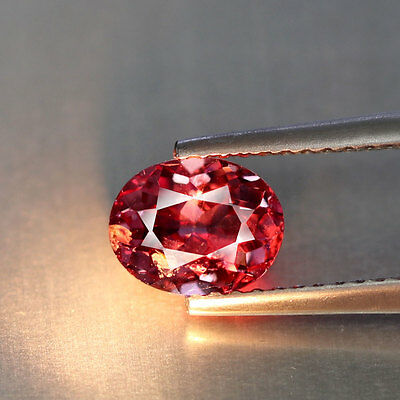 1.47 cts~Oval Cut~Vivid Pink To Red~Tanzania~Natural~Malaya Garnet~GQ1015