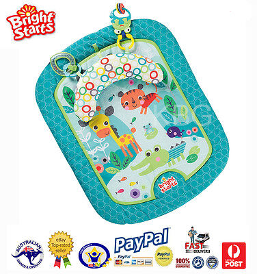 Aus Qlty Bright Starts Baby Tummy Time Prop & Play Activity Play Mat-Safari