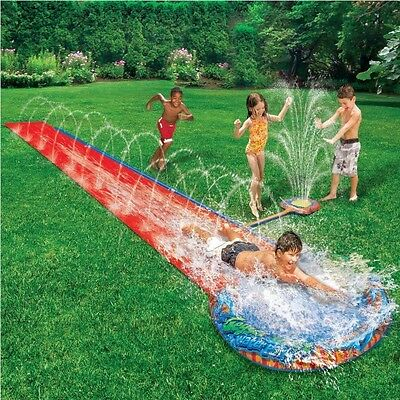 Childrens Kids Soak N Splash 16` Aqua Garden Water Slide Spray Sprinker Pool Toy
