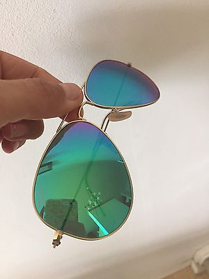 Ray-ban Aviator Sunglasses Turquoise Lens