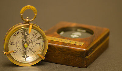 Compass - Vintage Royal with Copper Dial, Beveled Glass & Pendant (RoseWood Box)