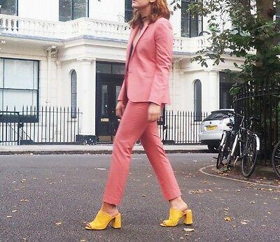 Topshop Pink Suit Jacket and Trousers Co-Ord, Size 10